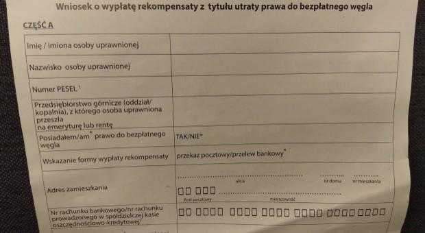 Odrzuconych 7,1 tys. wniosków o rekompensaty za deputat węglowy
