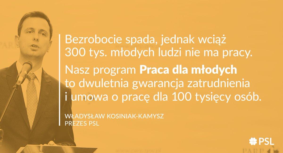 Nasz program to gwarancja zatrudnienia - mówi Władysław Kosiniak-Kamysz (fot.twitter.com/nowePSL)