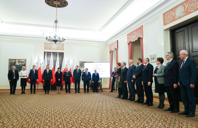 Prezydent Andrzej Duda powołał nowych członków w skład Rady Dialogu Społecznego (fot.prezydent.pl/Grzegorz Jakubowski)