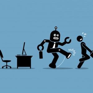 Praca w fabryce zmieniła pracowników w roboty