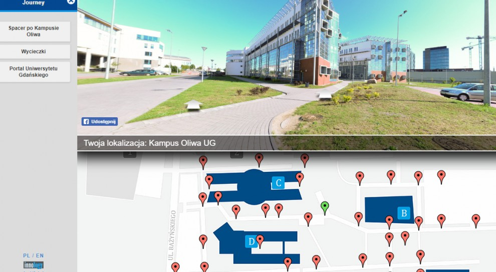 Kampus Uniwersytetu Gdańskiego można zwiedzać wirtualnie
