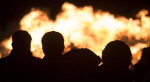 Pożar magazynu w Kluczborku. Pracownicy zdążyli opuścić obiekt