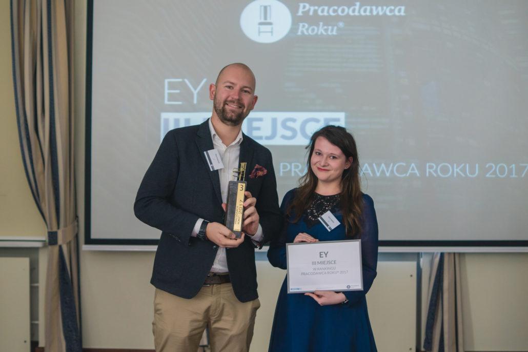 EY na liście Pracodawców Roku 2017 zajął 3. pozycję (fot.aiesec.pl)