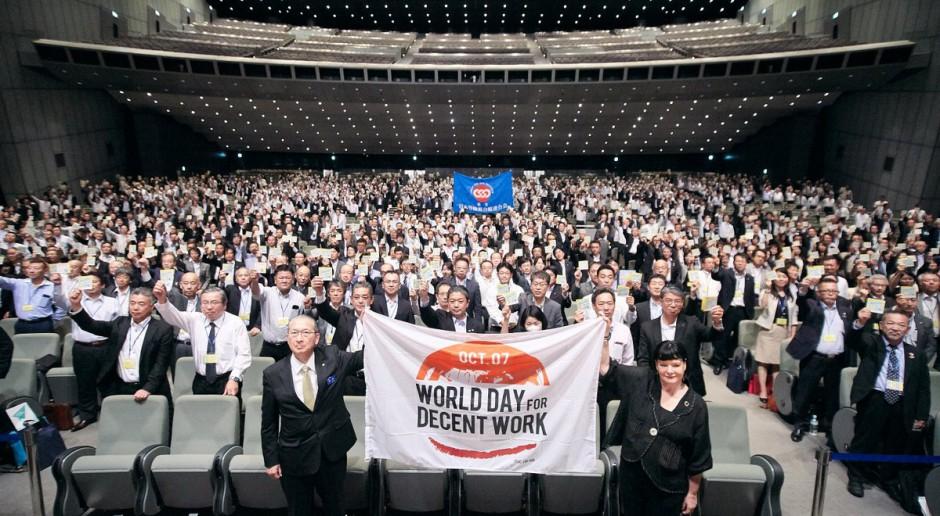 Działacze Międzynarodowej Konfederacji Związków Zawodowych, źródło: ITUC /twitter.com/ituc