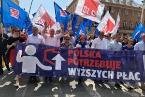"""Pierwszomajowy pochód OPZZ. """"Polska potrzebuje wyższych płac"""""""
