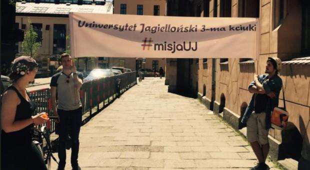 Uniwersytet Jagielloński zorganizował happening dla maturzystów