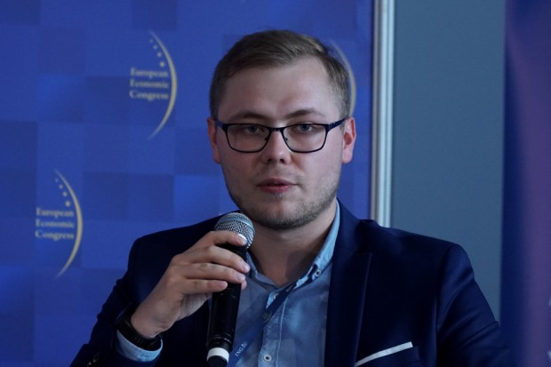 Piotr Herstowski, moderator sesji i prezydent AIESEC Polska w latach 2015-2016 (fot. PTWP)