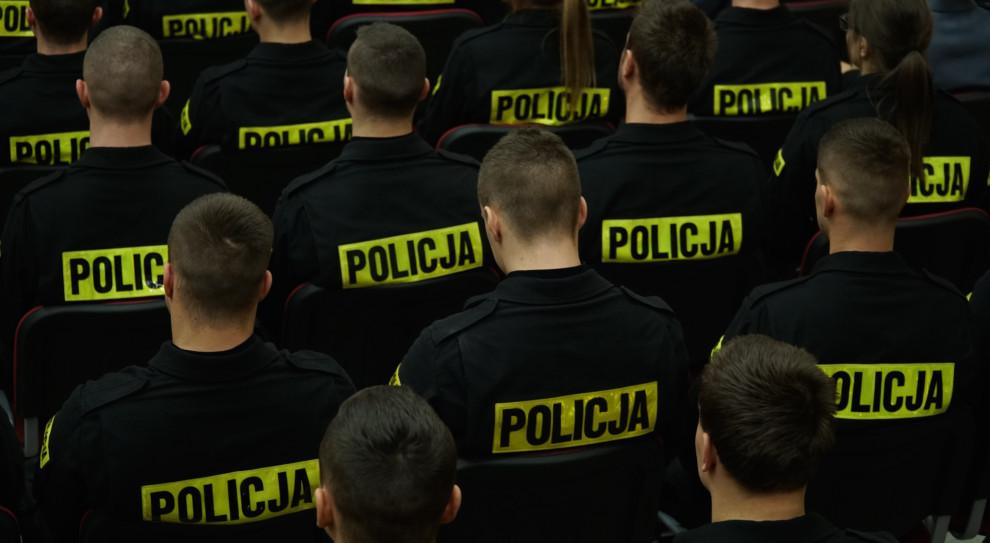 Protest policjantów z poparciem centrali związkowej