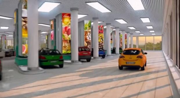 Zbudują supermarket dla kierowców. Zakupy będzie można zrobić zza kierownicy (WIDEO)