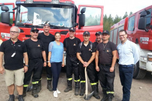 Księżniczka z wizytą u polskich strażaków w Szwecji