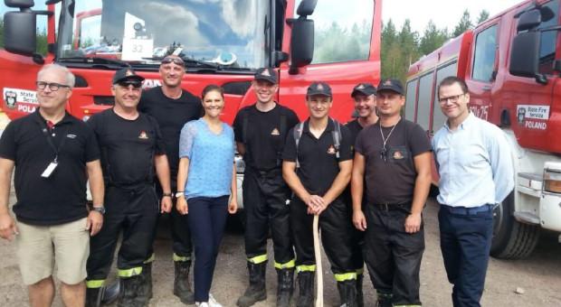 Księżniczka Wiktoria odwiedziła polskich strażaków w Szwecji