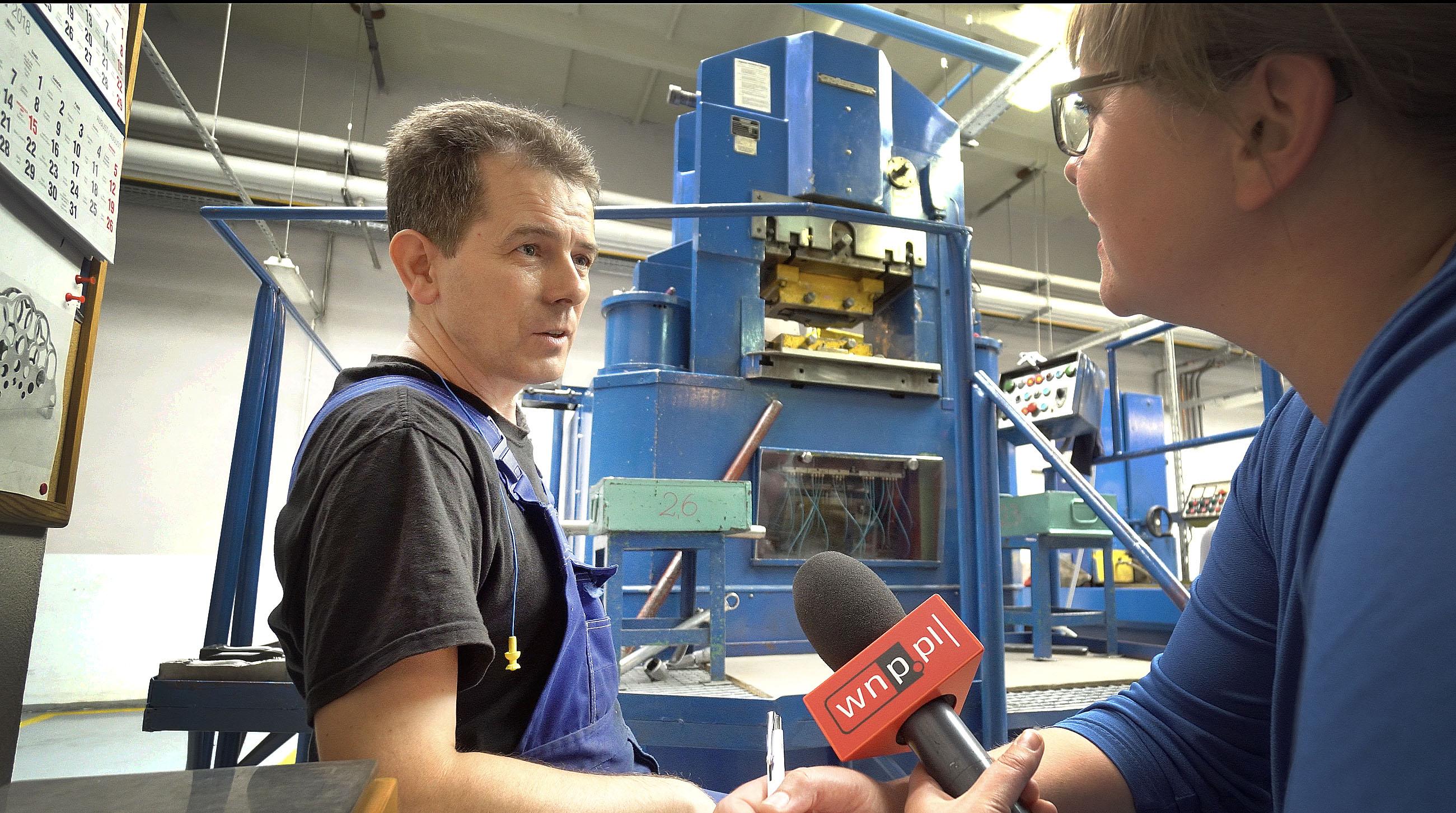 Edward Krynicki w Hefrze pracuje od 27 lat. (fot.PTWP/Andrzej Wawok)