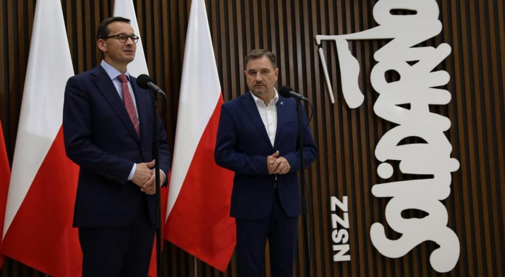 """Pensje w budżetówce. Mateusz Morawiecki spotkał się z """"Solidarnością"""""""