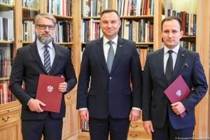 Rafał Kos i Mariusz Rusiecki nowymi doradcami społecznymi prezydenta Andrzeja Dudy