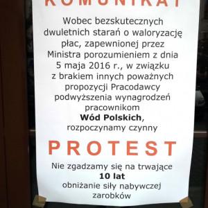 Związkowcy w Wodach Polskich domagają się podwyżek