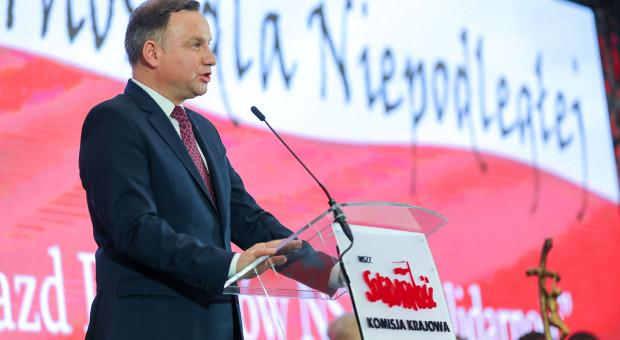 """Prezydent na zjeździe """"S"""": rządzący doceniają udział związku w polityce"""