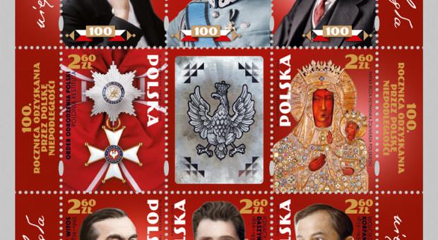 Poczta Polska wyemitowała znaczki z bohaterami Polski niepodległej