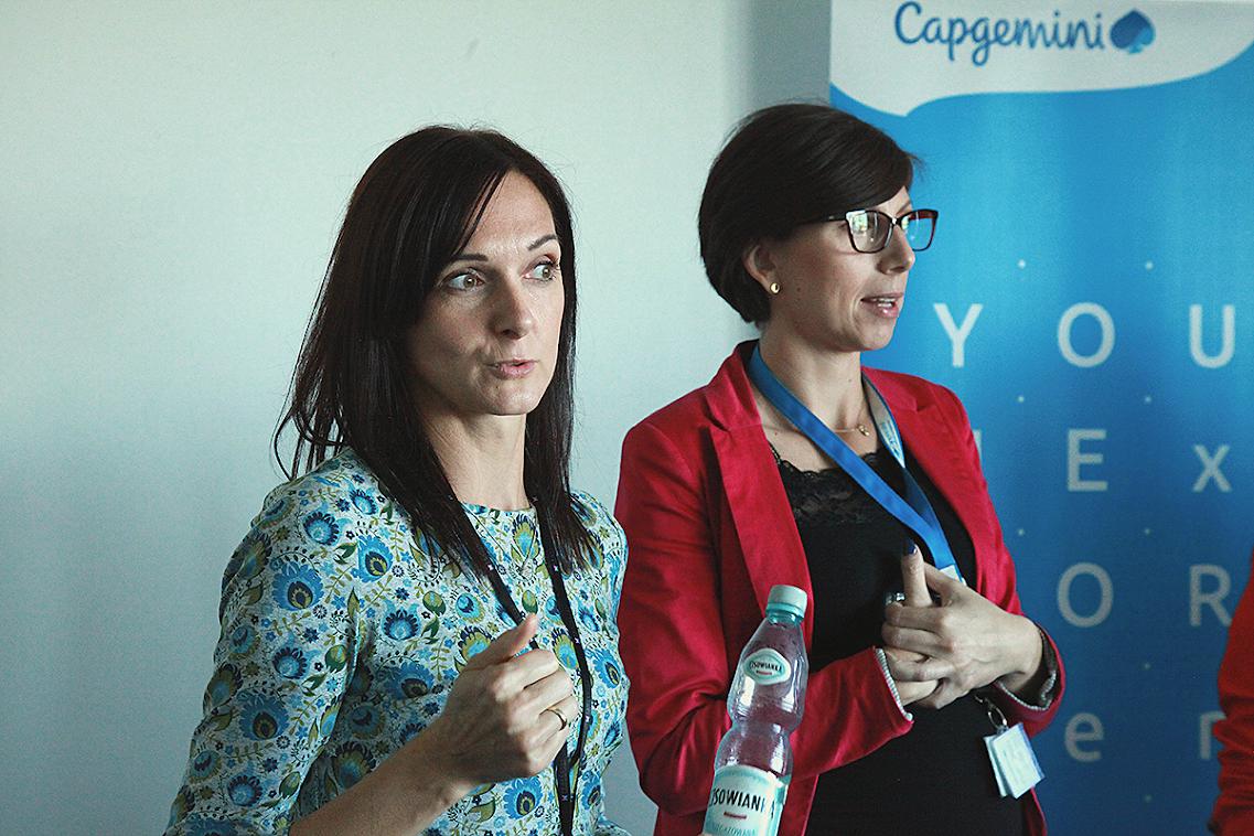 Na zdjęciu Marta Remin i Agnieszka Janas. fot. Capgemini Polska