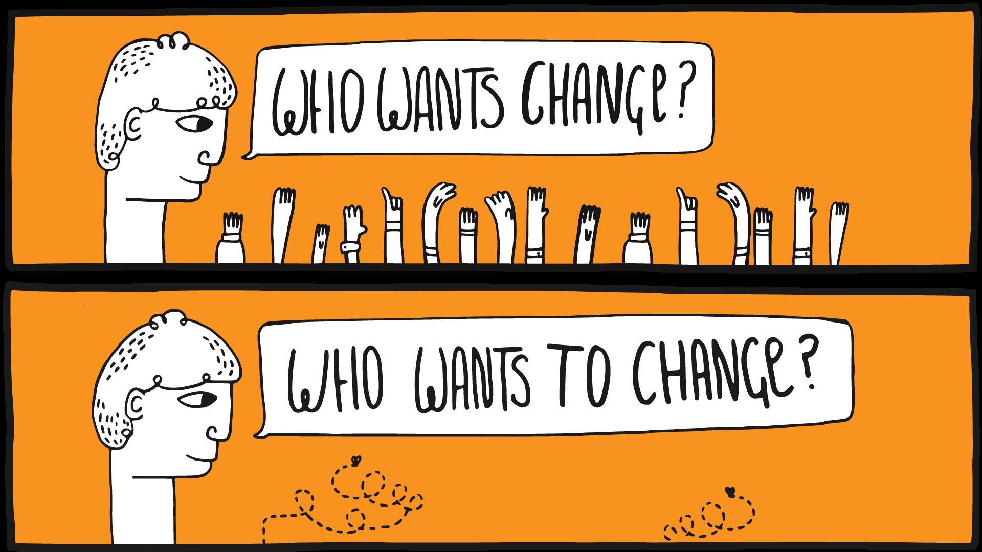 Im poważniejsze są zmiany, tym bardziej potrzebna jest wizja, z którą pracownicy będą mogli się utożsamić. (Fot. Flickr/Alan O'Rourke, lic. CC BY 2.0)