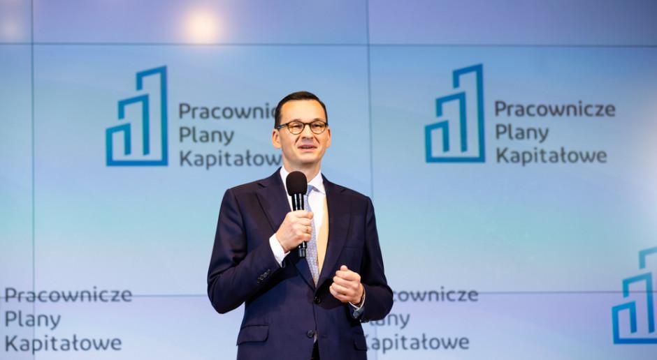 Premier Mateusz Morawiecki w czasie prezentowania rozwiązania PPK (fot. Adam Guz/Kancelaria Premiera RP/domena publiczna)