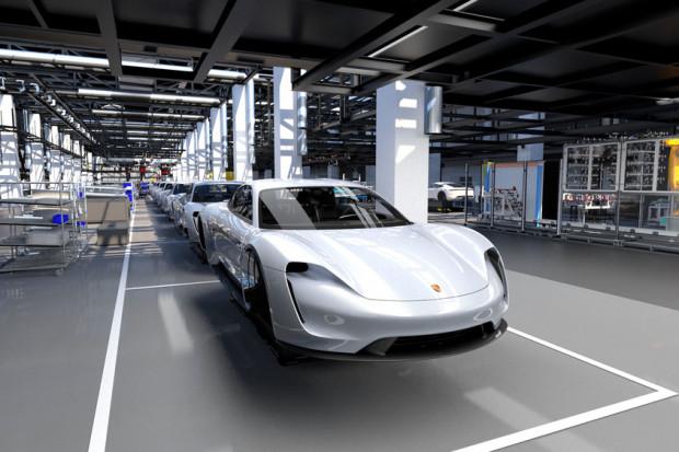 Budowa Porsche Taycan wygeneruje łącznie 1500 nowych miejsc pracy. (fot. porsche/mat.pras)