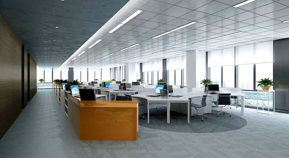 Biuro dobrze oświetlone to przestrzeń zdrowa i motywująca do pracy