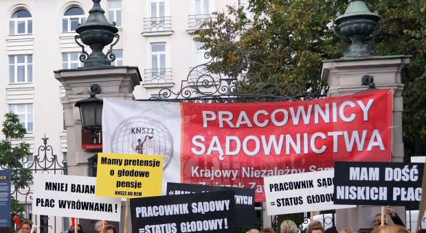 Protesty pracowników sądów nie tylko w stolicy