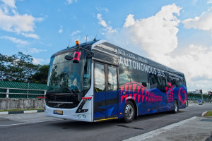 Autonomiczny bus na kampusie Nanyang Technology University
