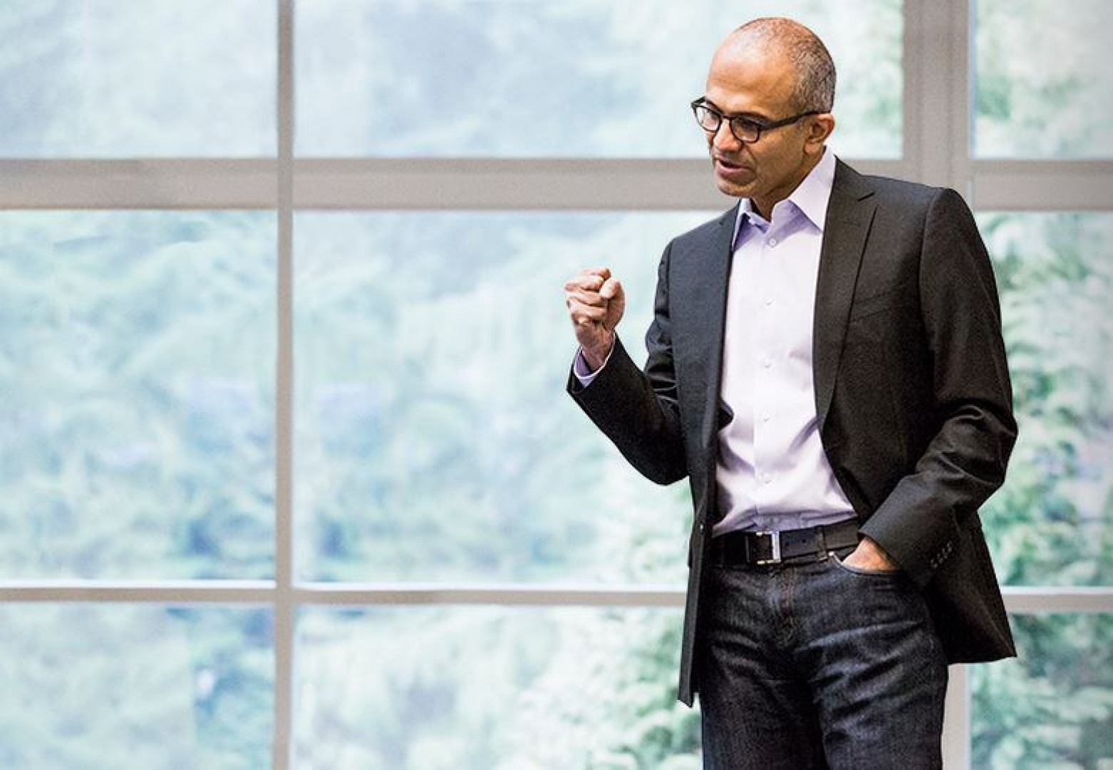 Satya Nadella, dyrektor generalny Microsoftu (fot. Bhupinder Nayyar/flickr.com/CC BY 2.0)