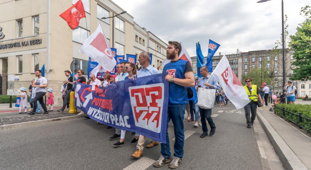 Związkowcy ze śląskiego OPZZ poparli protest nauczycieli