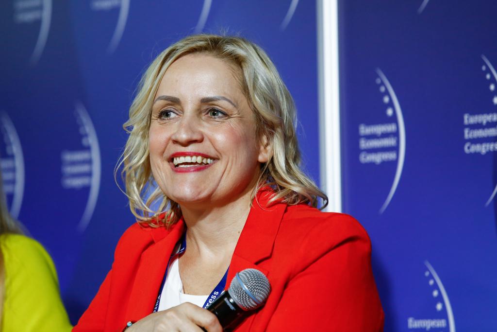 Joanna Mosiej-Sitek, zastępczyni dyrektora wydawniczego w Gazecie Wyborczej oraz dyrektor zarządzająca i redaktorka naczelna Wysokich Obcasów Praca (fot. PTWP)