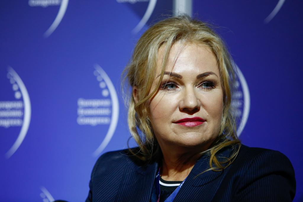 Barbara Misiewicz-Jagielak, dyrektor ds. relacji zewnętrznych w Grupie Polpharma, wiceprezes zarządu Polskiego Związku Pracodawców Przemysłu Farmaceutycznego (fot. PTWP)