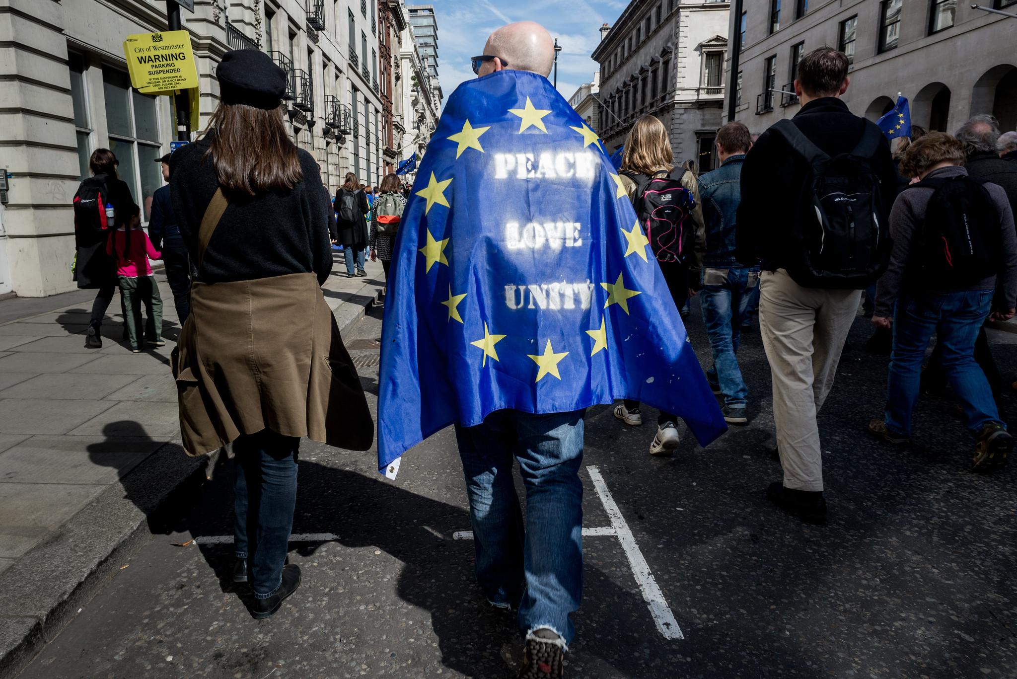 Część Brytyjczyków nadal uważa, że brexit nie był najszczęśliwszym z możliwych kursów, jakie mogła wybrać ich ojczyzna (fot. Ed Everett/flickr.com/CC BY 2.0)