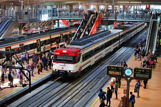 Strajk pracowników kolei w całej Hiszpanii