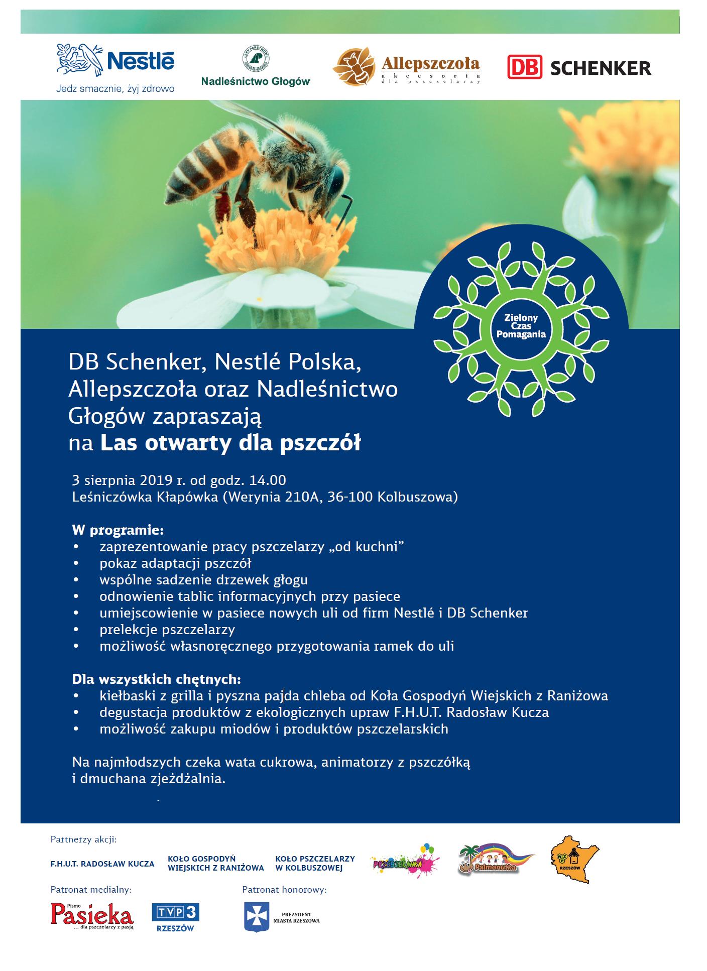 Plakat promujący akcję wspomagania pszczół. (źródło: Nestlé Polska/materiały prasowe)