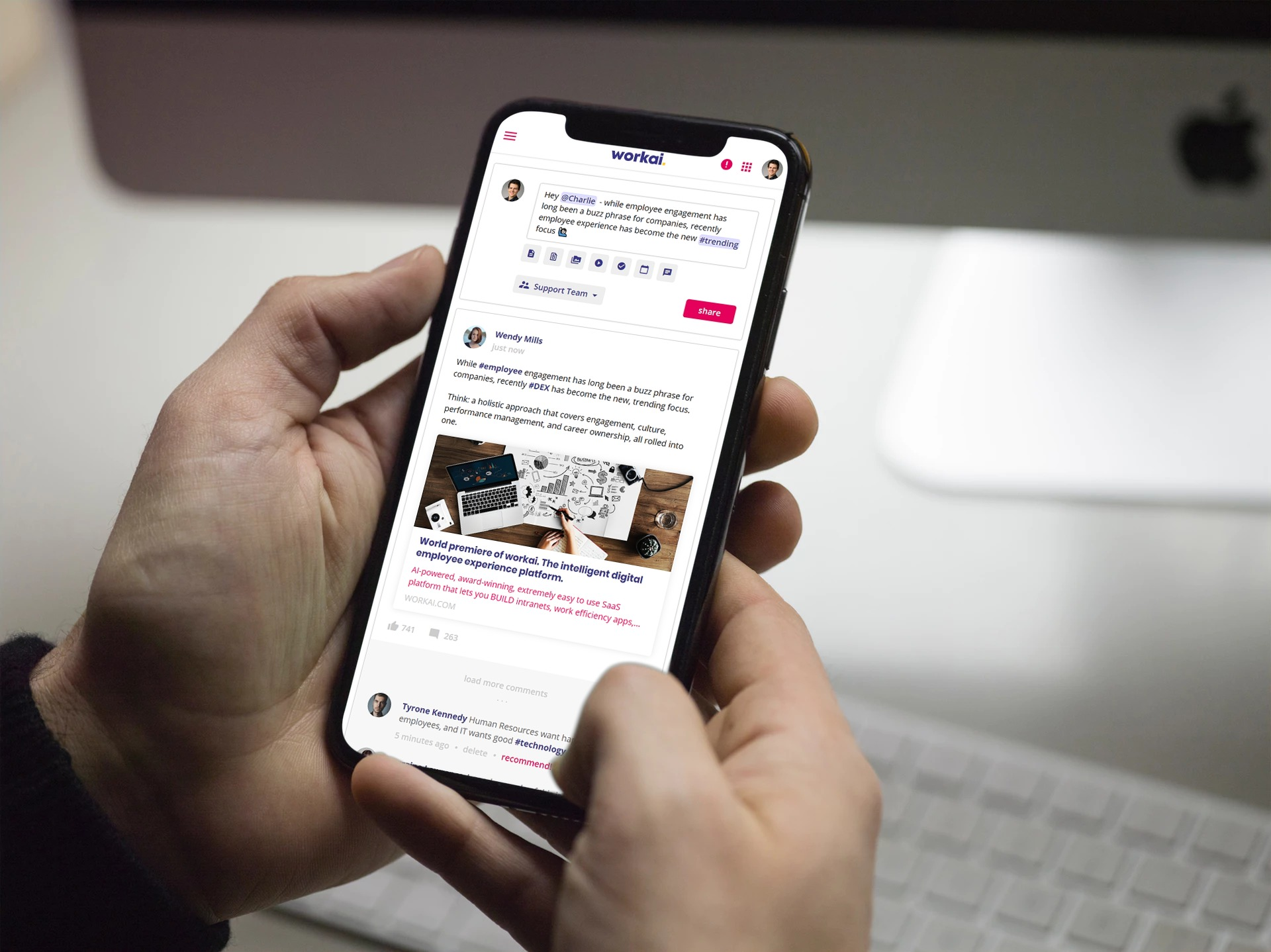 Platforma pomaga usprawniać i monitorować zaangażowanie pracowników w wewnętrznej sieci społecznościowej . (Fot. mat. pras.)