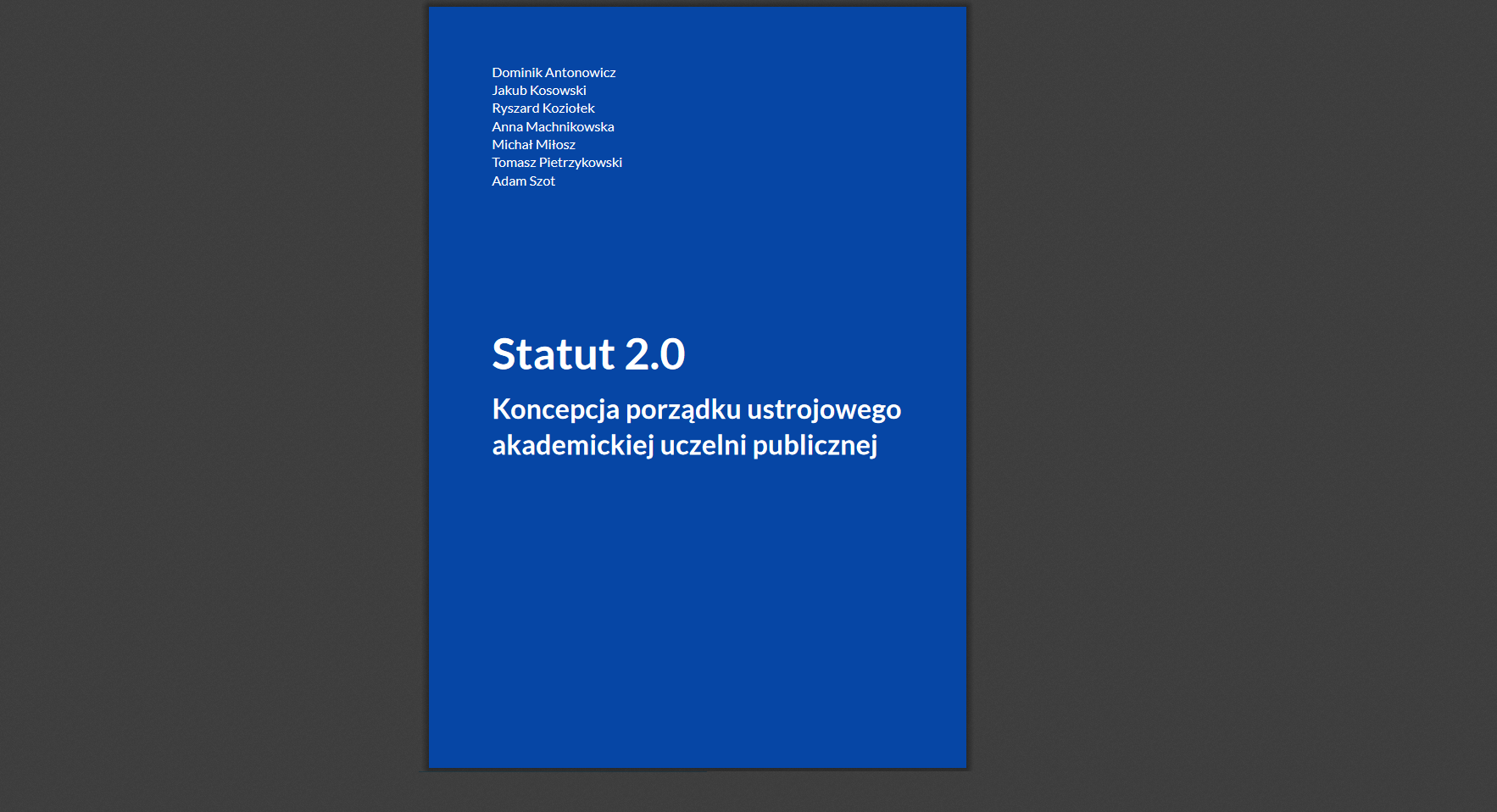 Status 2.0 (źródło: Status 2.0, statut20.umk.pl)