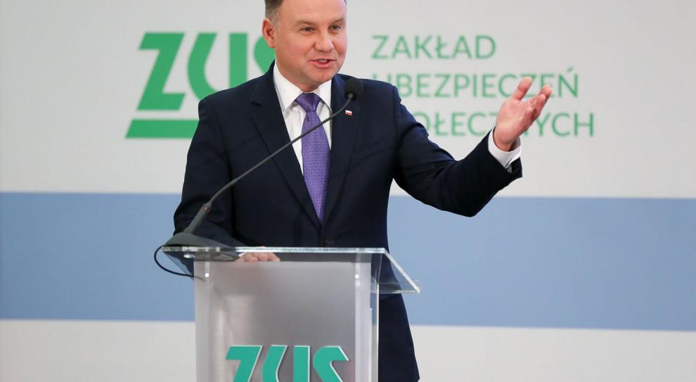 Prezydent Duda: Jestem ostatnim człowiekiem w Polsce, który będzie zwolennikiem zlikwidowania ZUS
