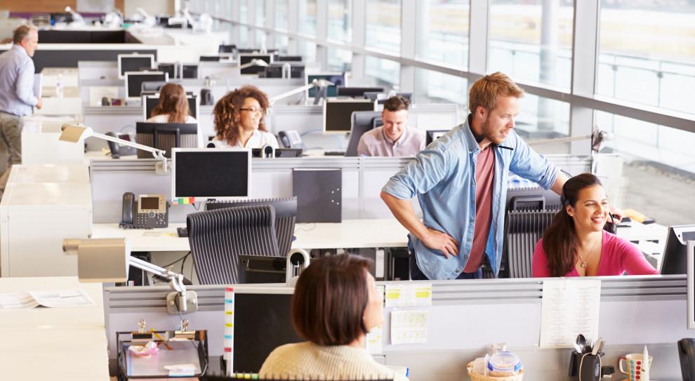 Jak wynika z analiz firmy Savills, 38 proc. badanych z Polski pracuje w układzie tzw. open space. (Fot. Shutterstock)