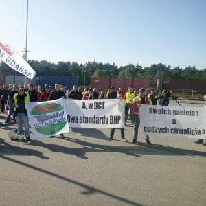 Protest pracowników. Poszło o język ukraiński