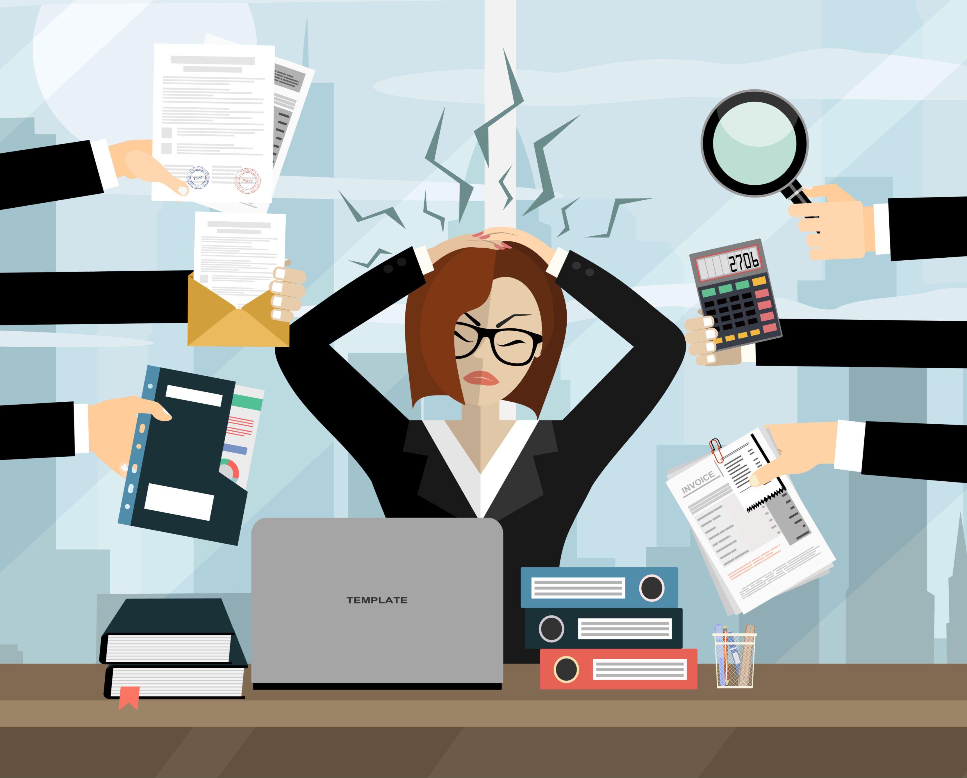 Stres jest wymieniany jako jedna z barier uniemożliwiających efektywną pracę (fot. Shutterstock)