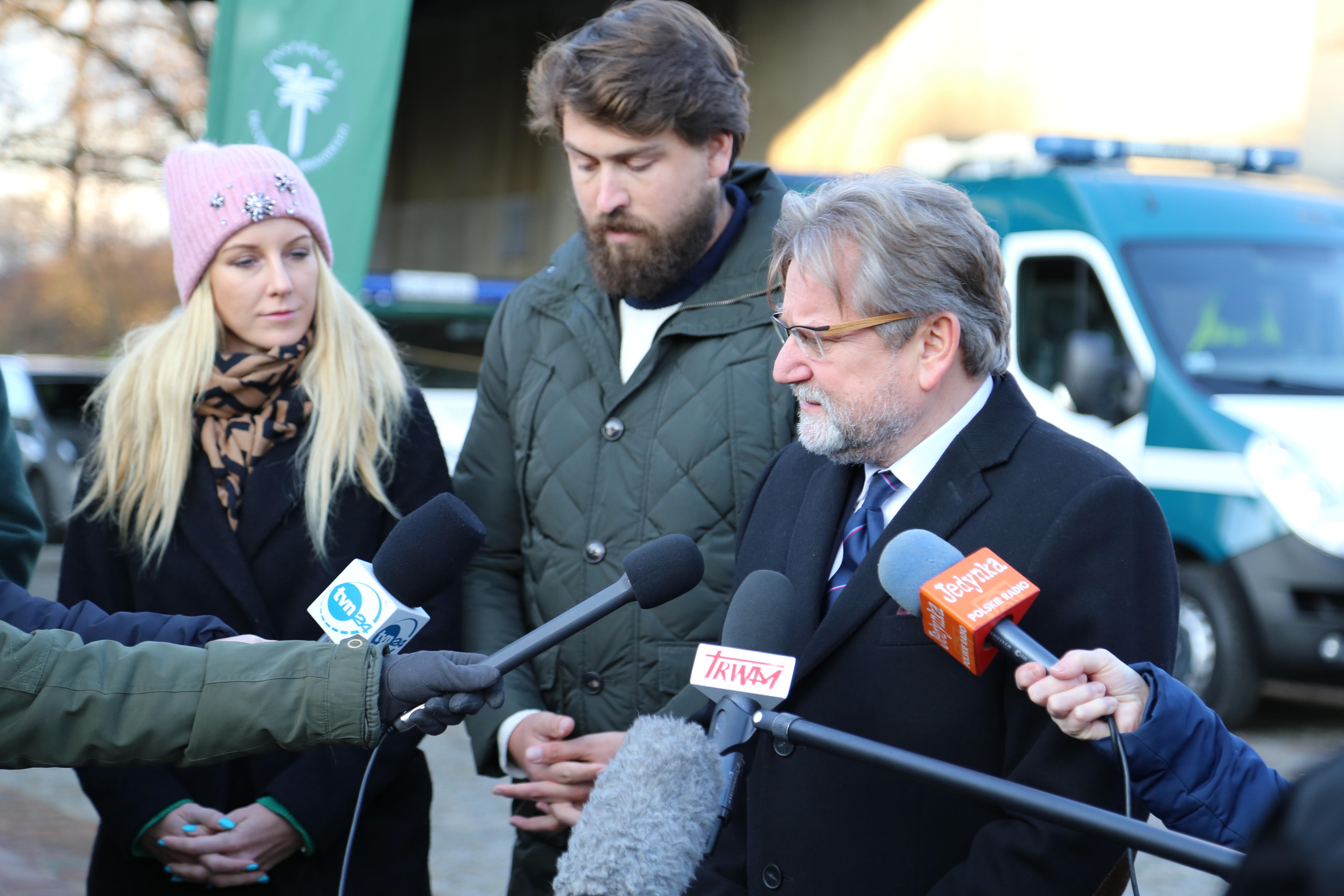O tym jaki wpływ ma stan zdrowia kierowców na bezpieczeństwo ruch drogowego mówili także Alvin Gajadhur Główny Inspektor Transportu Drogowego i Jarosław Pinkas Główny Inspektor Sanitarny (fot. gis.gov.pl)