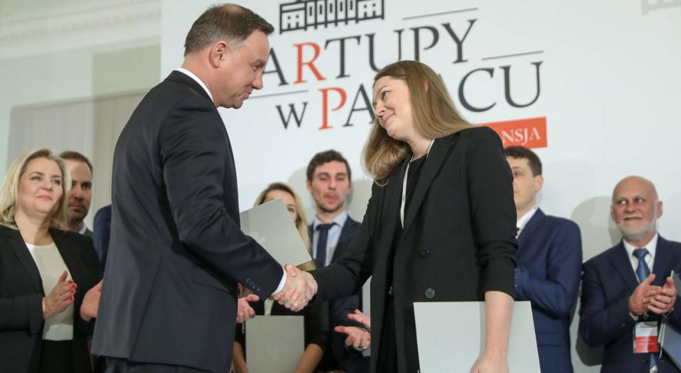 Startupy w Pałacu: Andrzej Duda wręczył dyplomy laureatom konkursu