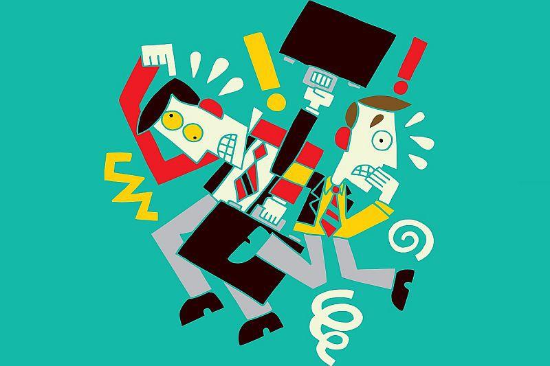 E-maile i telefony, biurowe plotki ze współpracownikami przy kawie, przeglądanie mediów społecznościowych - biurowe rozpraszacze potrafią znacznie zmniejszyć efektywność pracowników. (Fot. Shutterstock)