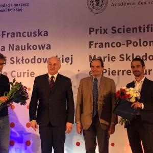 Czterech naukowców otrzymało pierwszą Polsko-Francuską Nagrodę Naukową