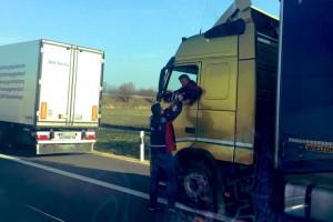 25 ton żywności i napojów dla kierowców na granicy niemiecko-polskiej