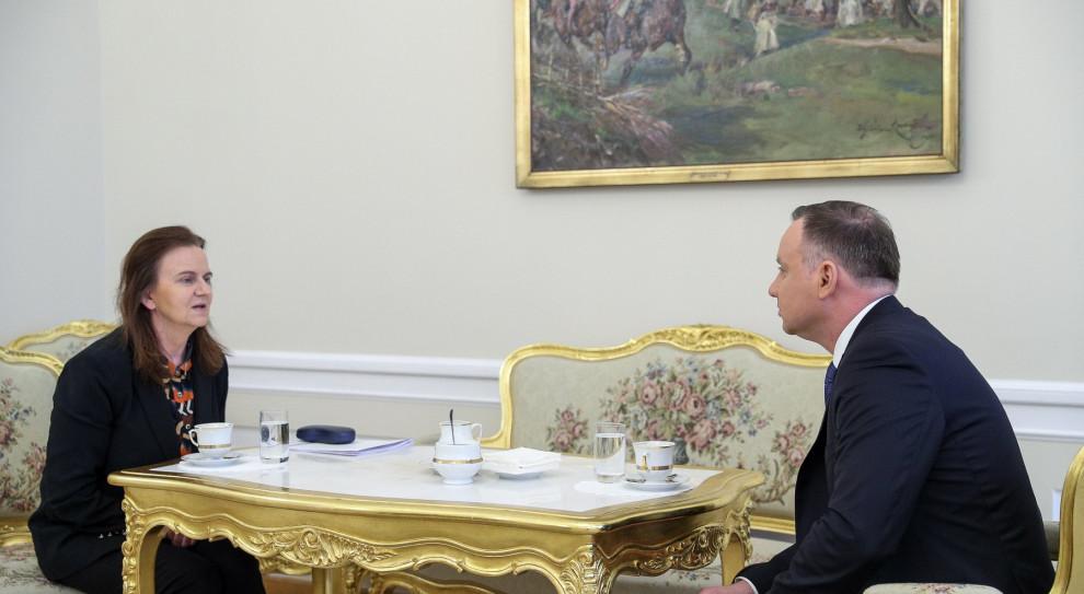 Prezydent rozmawiał z prezes ZUS m.in. o rozwiązaniach z pakietu antykryzysowego