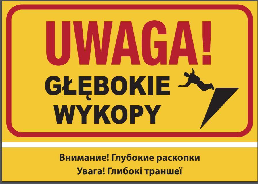 Jedna z tablic przygotowanych przez Porozumienie dla Bezpieczeństwa w Budownictwie. Fot. mat. pras.