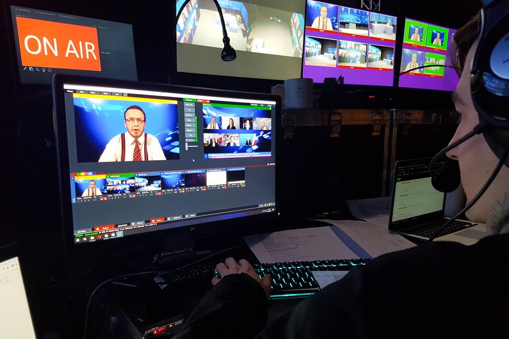 Na potrzeby EEC Online powstało nowoczesne studio telewizyjne. Fot. PTWP