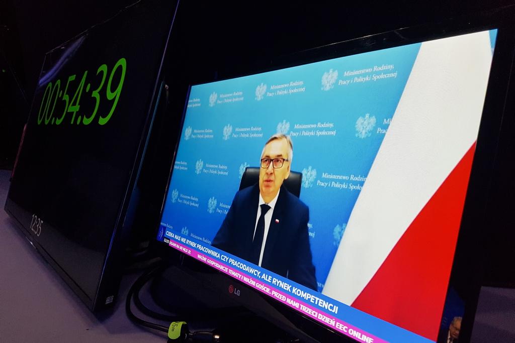 Jednym z uczestników debaty Rynek pracy - sztuka adaptacji był wiceminister pracy Stanisław Szwed. Fot. PTWP